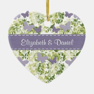 Custom Purple Butterfly Ornament Wedding Favors