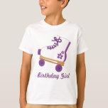 Custom Purple Roller Skate Birthday Girl T-Shirt