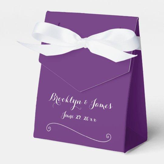 Custom Purple Wedding Favour Boxes Tent Favor Boxes
