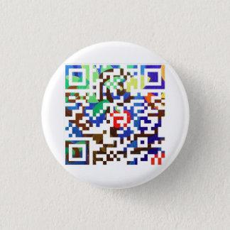 custom Q R code 1 Inch Round Button