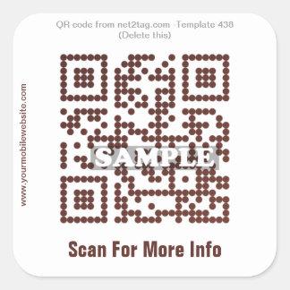 Custom QR code sticker (QR code template #438)