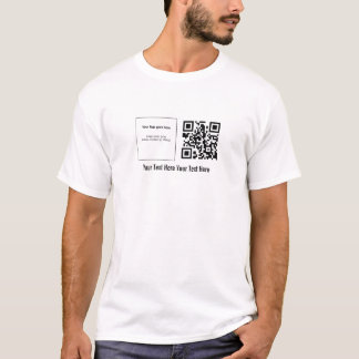 "Custom QRstuff.com ""Your Logo"" QR Code T-Shirt"