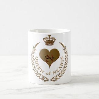 Custom Queen of Hearts Classic White Coffee Mug