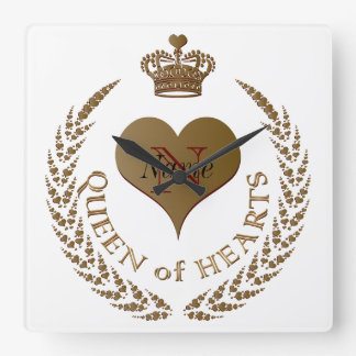 Custom Queen of Hearts Clock