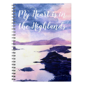 Custom Quote Watercolour Painting Spiral Notebook