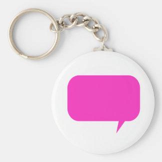 Custom Quotebox Pink Keychain