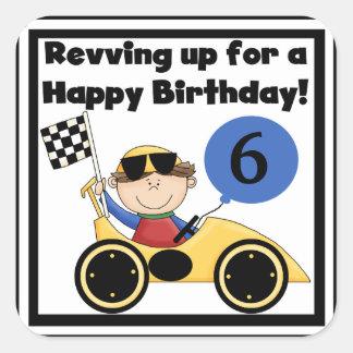 Custom Racing Car Birthday Stickers