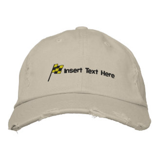 Custom Racing Flag Embroidered Hat