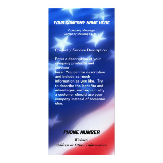 Custom Rack Card, Patriotic Design Rack Card