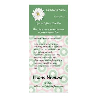 Custom Rack Card, Pink and Green Spa, Health, Hair Rack Card