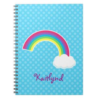 Custom Rainbow and Cloud Notebook