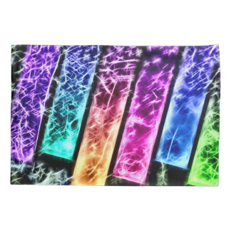 Custom Rainbow Keys Airbrush Fractal Art Pillowcase