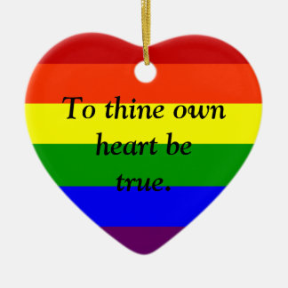 Custom Rainbow Ornament, Custom Gay Pride Ornament