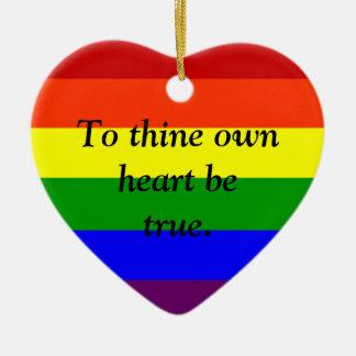Custom Rainbow Ornament, Custom Gay Pride Ornament