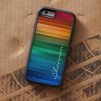 Custom Rainbow Ribbon Stripe Rugged iPhone 6 case