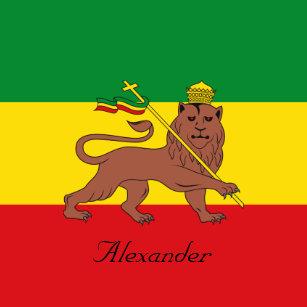 7a7c91db Custom Rastafarian Flag of Ethiopia Lion of Judah Magnet