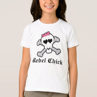 Custom Rebel Chick Girl Skull w/Crossbones Shirt
