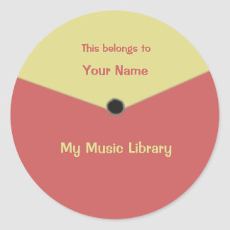 Custom Record Label Center Label Sticker