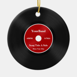 Custom Record Personalize Ceramic Ornament