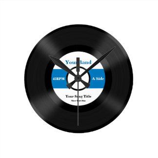 Custom Record Personalize Wall Clocks