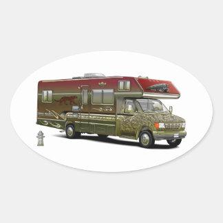 Custom Recreational Vehicle Oval Sticker