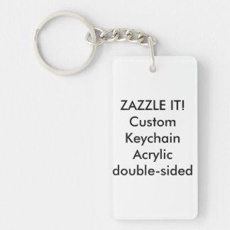 Custom Rectangle Acrylic Keychain Key Ring Blank