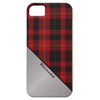Custom Red & Black Plaid iPhone 5S Case