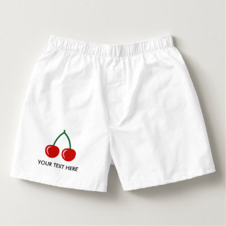 Custom red cherry boxer shorts underwear for men boxers