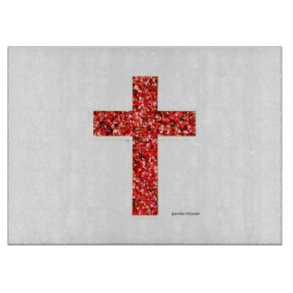 Custom Red Cross Cutting Board