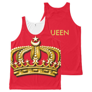 Custom Red/Gold Crown Tank