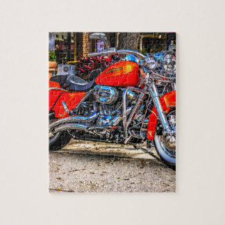 Custom red hog Motorcycle Jigsaw Puzzle