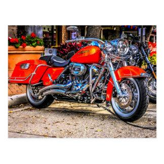 Custom red hog Motorcycle Postcard
