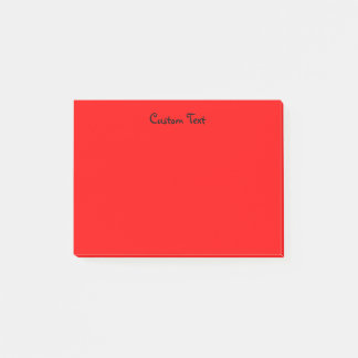 Custom Red Post-it Notes