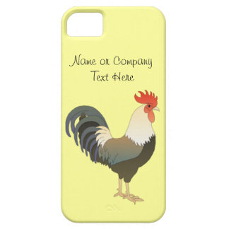 Custom Red Rooster Farm Animal yellow Case For The iPhone 5