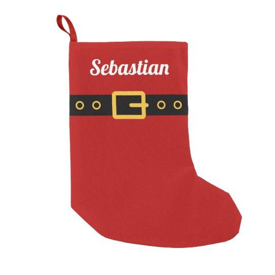 Custom red Santa Clause suit Christmas stocking