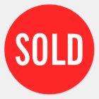 Custom Red Sold Sticker
