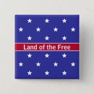 Custom Red White and Blue Patriotic Buttons