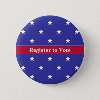 Custom Red White and Blue Register to Vote Button