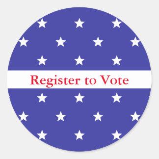 Custom Red White and Blue Register to Vote Sticker