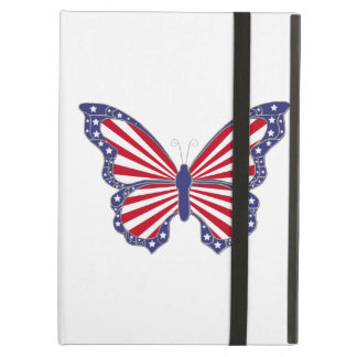 Custom Red White Blue Butterfly iPad Case
