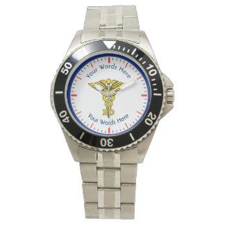 Custom Registered Dietitian RD Caduceus Watch