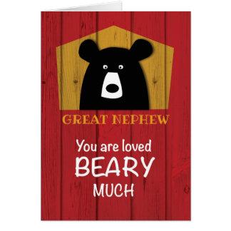 Custom Relationship, Valentine Bear Wishes Card