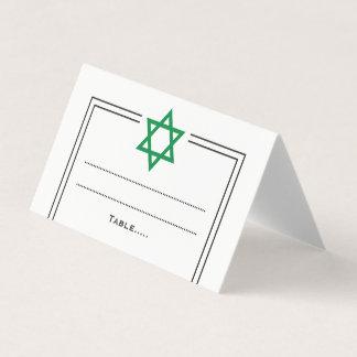 Custom request Star of David Place Card