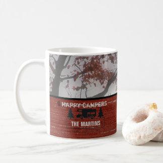 Custom Retired RVers | Happy Campers Rustic Coffee Coffee Mug