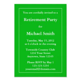 Custom Retirement Party Invitation - Medium Green