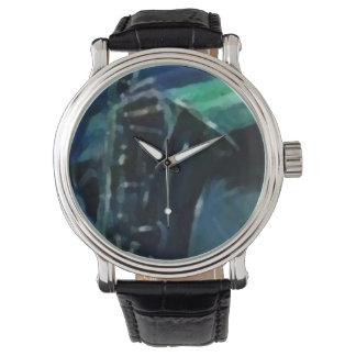Custom retro clock sax watch