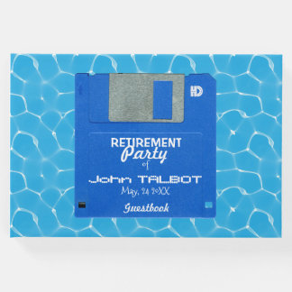 Custom Retro Floppy Retirement Party Guest Book
