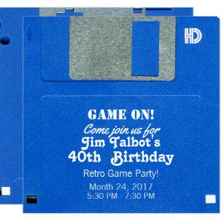 Custom Retro Game Birthday Invite Floppy Disk 3.5