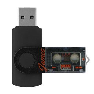 Custom Retro Micro Cassette Audiotape Personalized Swivel USB 3.0 Flash Drive