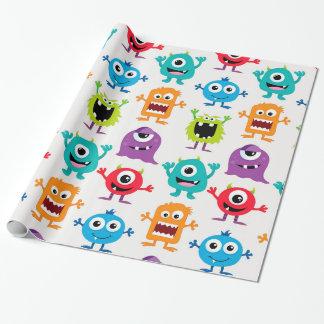 Custom Retro Monster Alien Wrapping Paper